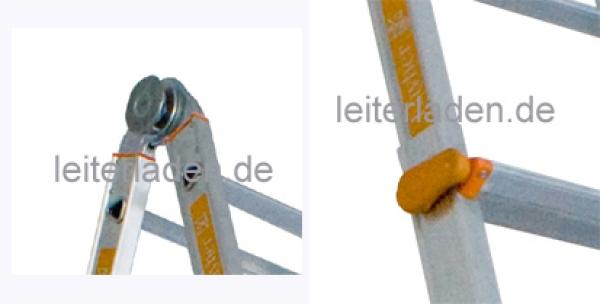 Teleskopleiter aus aluminium